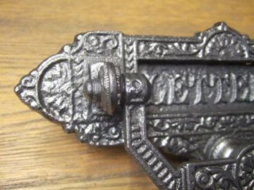 Victorian Cast Iron Letterbox and Knocker