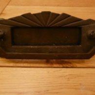 Art Deco Combination Letterbox and Door Knocker