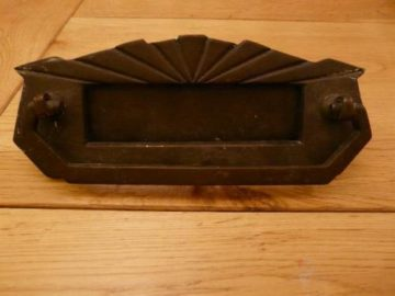 Art Deco Combination Letterbox and Door Knocker