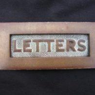 Victorian Brass Letterbox
