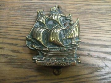 'The Mayflower' Brass Ship Door Knocker