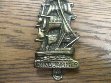 'Wind Jammer' Brass Ship Door Knocker
