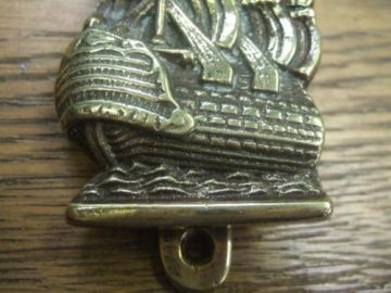 Spanish Galleon Brass Door Knocker