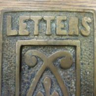 Arts & Crafts Brass Letterbox