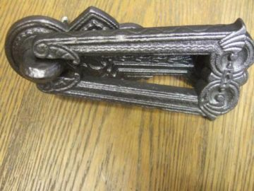 Cast Iron Arts And Crafts Door Knocker