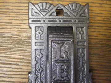 Arts & crafts Cast Iron Letterbox and Door Knocker