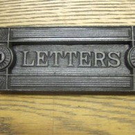 Arts & Crafts Cast Iron Letterbox
