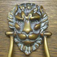 Victorian Lions Head Door Knocker