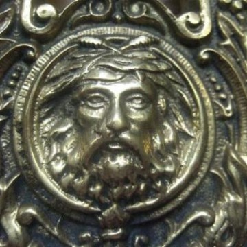 Victorian celtic green man door knocker d042 antique door knockers - Green man door knocker ...