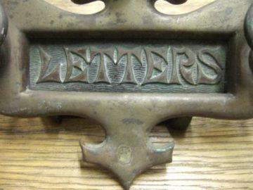 Original Art Nouveau Letterbox Doorknocker