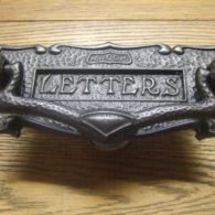 Art Nouveau Cast Iron Door Knocker And Combination Letterbox