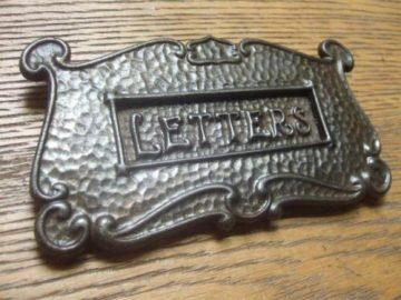 Cast Iron Art Nouveau Letterbox