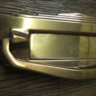 Brass Art Deco Letterbox