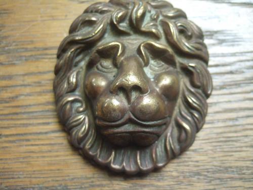 D214 brass lion s head door knocker antique door knockers - Lions head door knocker brass ...
