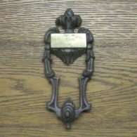 Cast Iron Rococo Door Knocker - D026