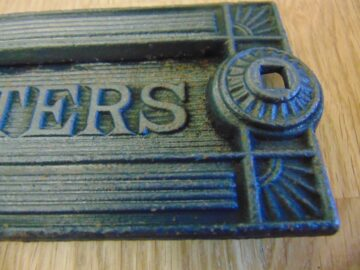 Arts & Crafts Cast Iron Letterbox D031 Antique Door Knocker Company