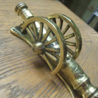 Brass Cannon Door Knocker - D084