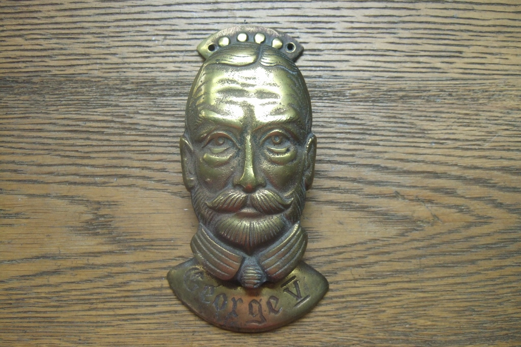 D151 king george v brass door knocker antique door knockers - Antique brass door knocker ...