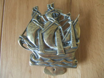 'The Mayflower' Brass Door Knocker