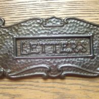 Cast Iron Art Nouveau Letterbox