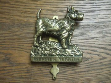 Aberdeen Terrier Brass Antique Door Knocker