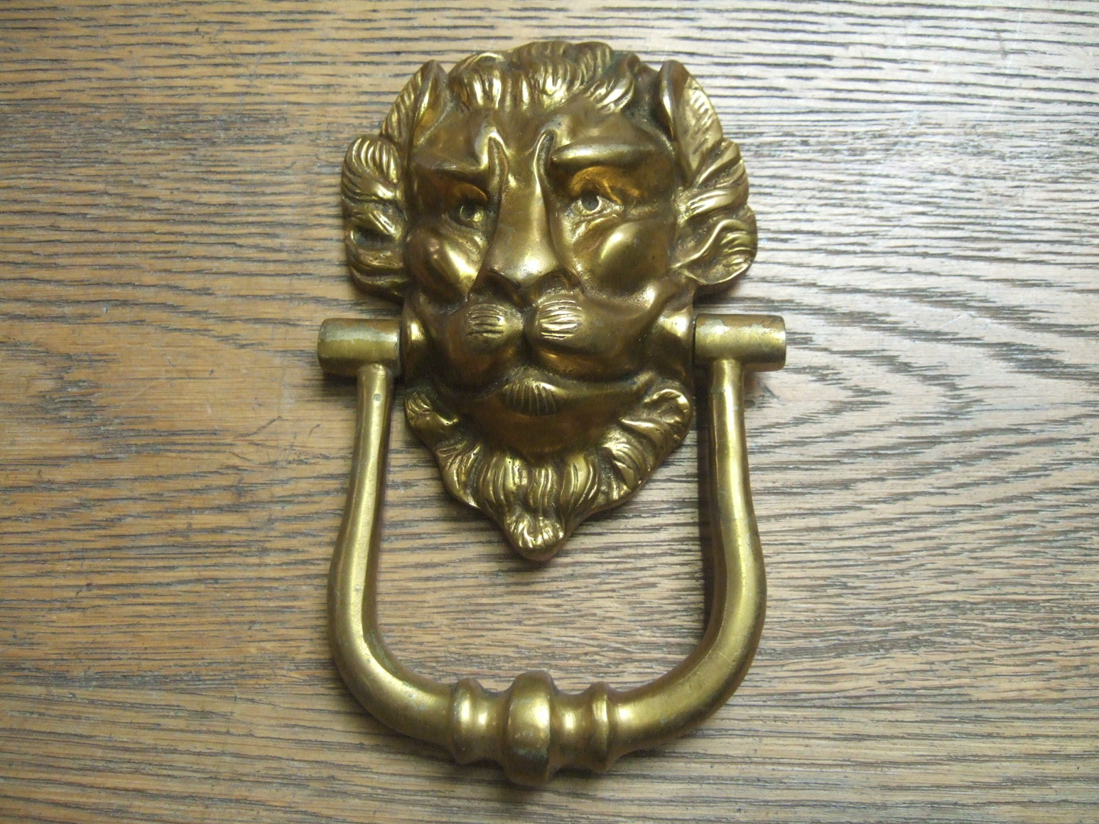 D200 lion s head brass door knocker antique door knockers - Brass lion head door knocker ...