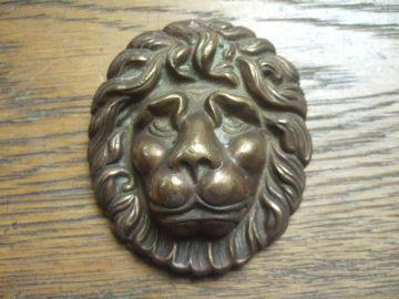 Brass Lion's Head Door Knocker