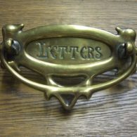 Antique Brass Letterbox