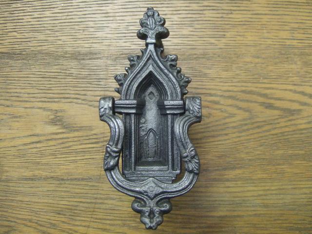 Gothic Cast Iron Church Door Knocker D260 Antique Door