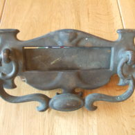 Original Edwardian Brass Combination Letterbox