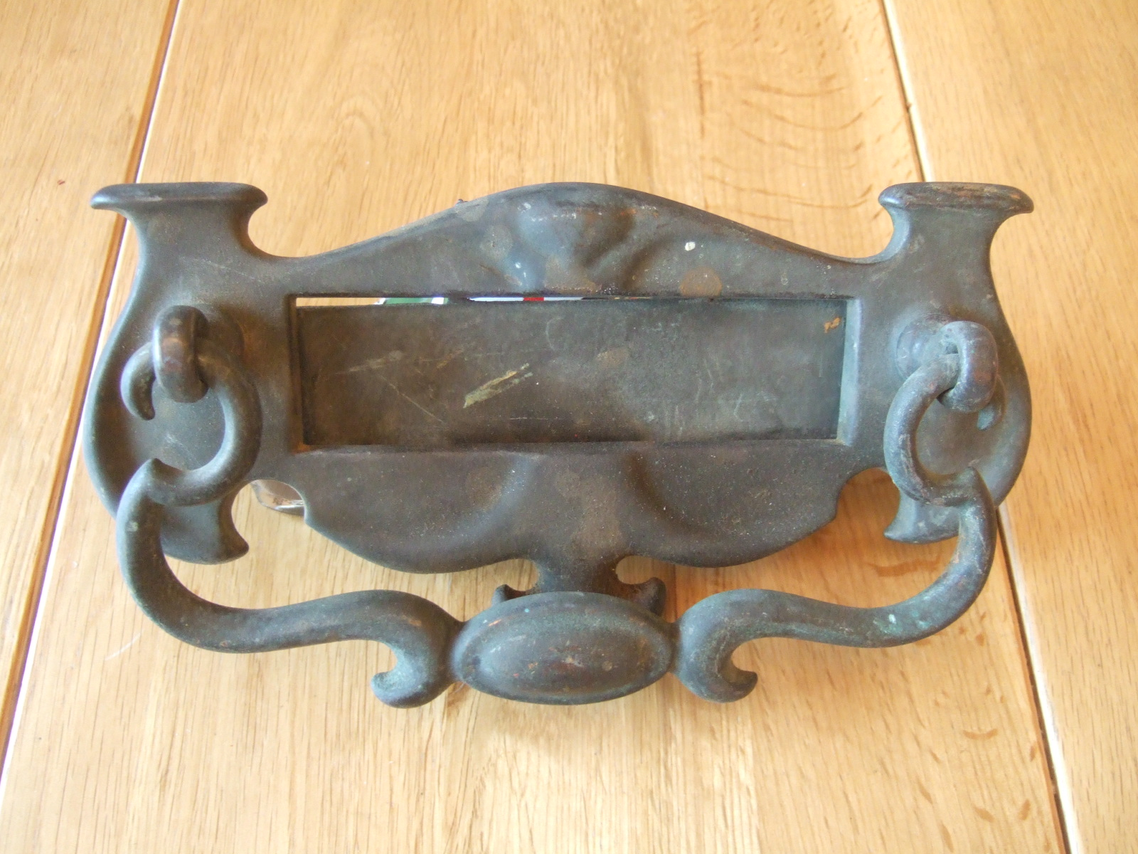 Original Edwardian Brass Combination Letterbox