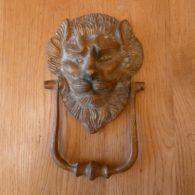 Victorian Brass Lion's Head Door Knocker