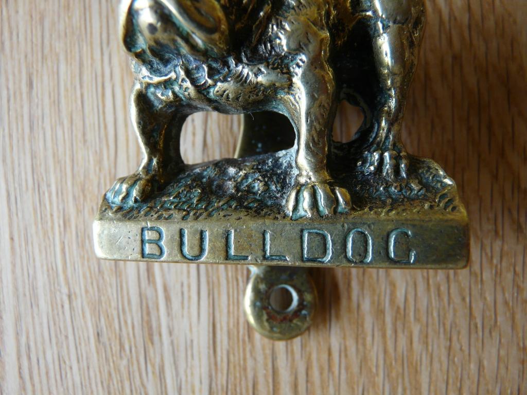 D309 0715 brass bull dog door knocker antique door knockers - Bulldog door knocker ...