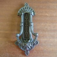 Victorian Cast Iron Door Knocker and Letterbox