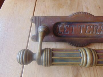 Original Georgian Letterbox and DoorPull D352L Antique Door Knocker Company