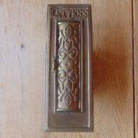 Brass Victorian Letterbox D385 Antique Door Knocker Company