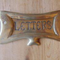 Original Art Nouveau Letterbox D421-0114 Antique Door Knocker Company