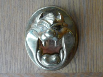 Tazmanian Devil Doorknocker RD012L Antique Door Knocker Company