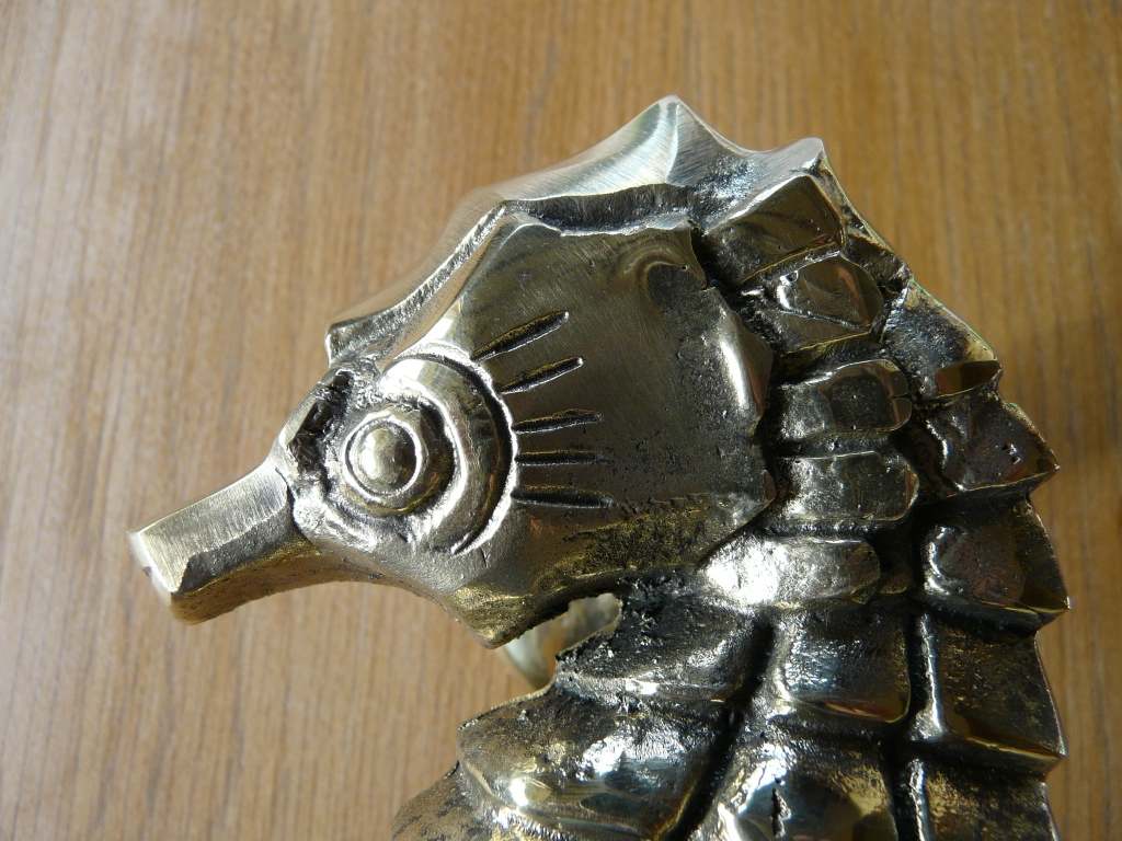 Rd028l sea horse door knocker antique door knockers - Horse door knocker ...