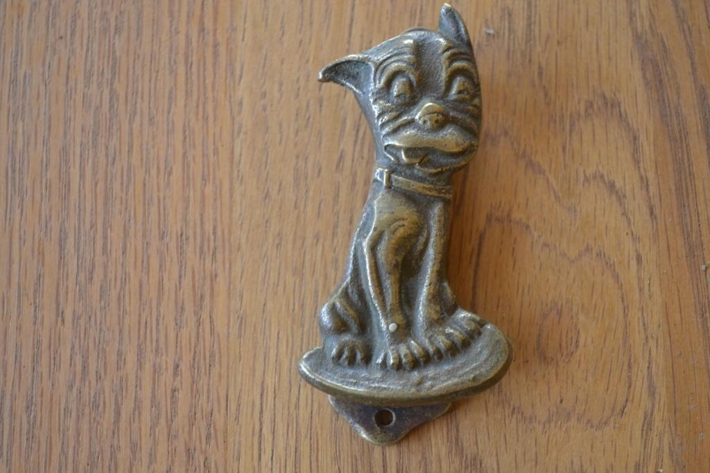 D194 0615 bonzo dog brass door knocker antique door knockers - Antique brass door knocker ...