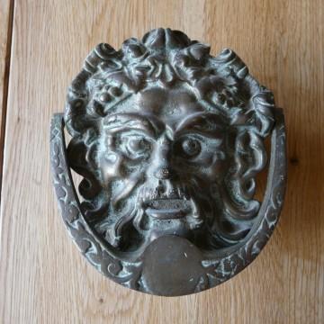 Reclaimed green man brass door knocker d458 0715 antique door knockers - Green man door knocker ...