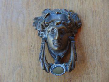 Dionysus Brass Door Knocker D514 Antique Door Knocker Company