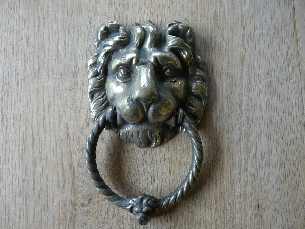 Brass lions head door knocker d025 1116 antique door knockers - Brass lion head door knocker ...