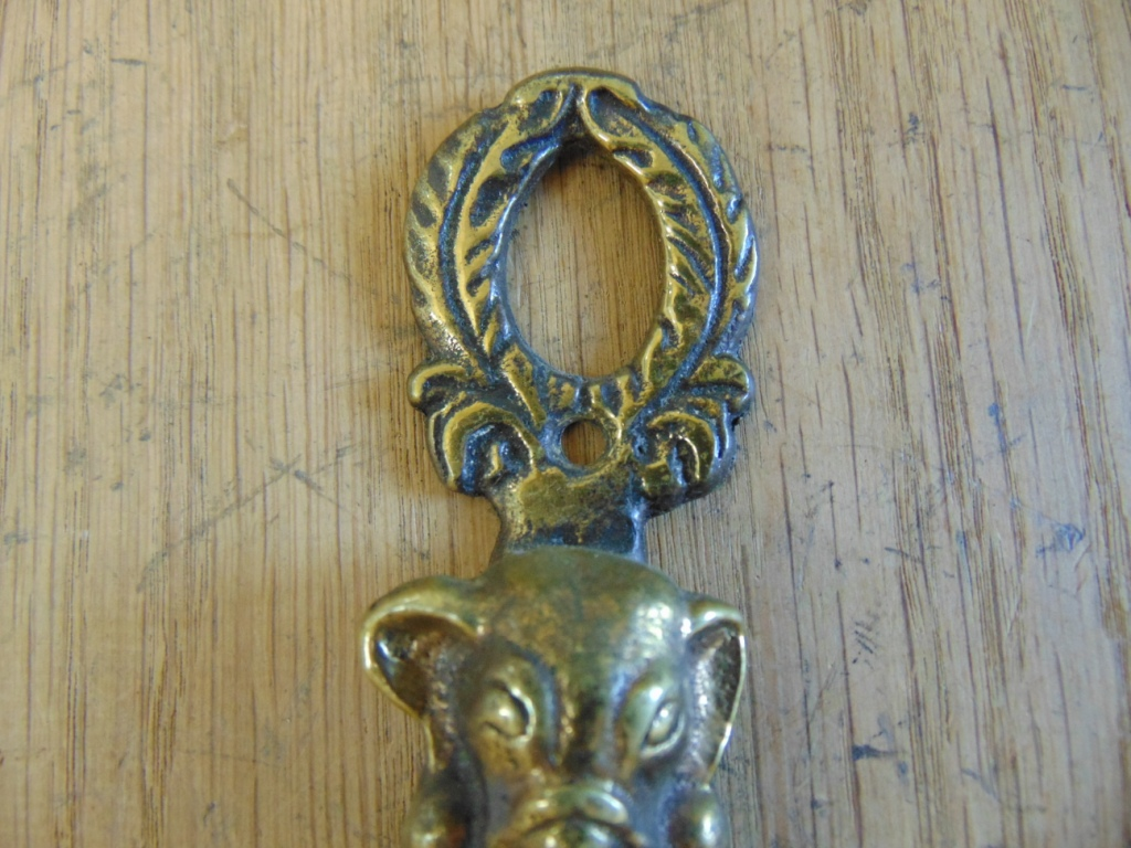 Antique Brass Indian Elephant Door Knocker D538-0518 - The Antique Door Knocker Company