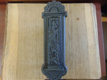 Victorian Vertical Cast Iron Letterbox D539-0518 - The Antique Door Knocker Company