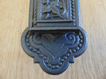 Victorian Cast Iron Vertical Letterbox D539-0518 - The Antique Door Knocker Company