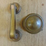 Edwardian Brass Door Knocker and Door Pull D540-0518 - The Antique Door Knocker Company