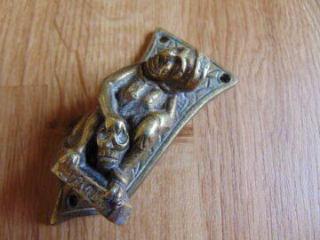 Brass Devil Door Knocker D543-0618 Antique Door Knockers