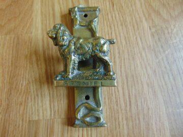 Antique Spaniel Dog Door Knocker D549-081 Antique Door Knocker Company8-