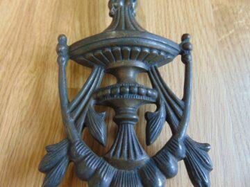 Victorian Brass Urn Door Knocker D550-0818-Antique Door Knocker Company